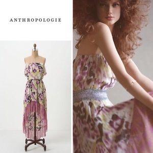 Anthropologie Lilka Ostara Strapless Mesh Dress M